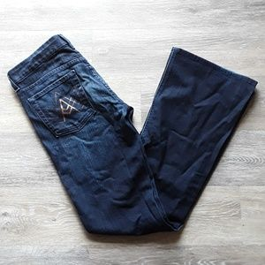 7 For All Mankind Dark A Pocket Bootcut Jeans 28